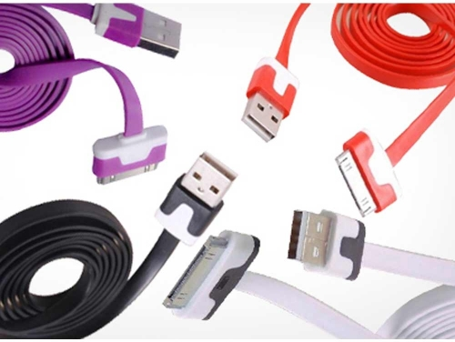 lightning-M Cable plano USB lightning color morado para Apple