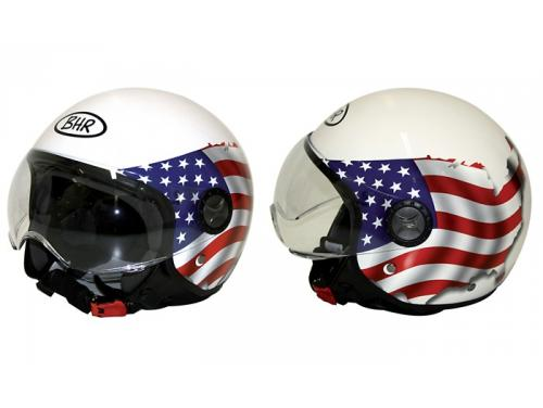 701-Fashion-USA Casco semi abierto serie 701 Fashion blanco con