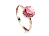 Anillo chapado en oro SWAROVSKI ELEMENTS color rosa Talla 50  EAN 1010101012902