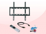 Kit TV READY con Soporte + Mando + Cable Hdmi + Kit de limpieza  Mando a distancia universal Soporte TV apto para 23 a 45 pulgadas Cable HDMI de 1.8mts Color Negro
